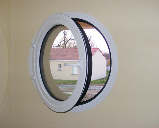 Saturne Oeil De Boeuf Chassis Rond Et Fenêtre Arrondie En Aluminium